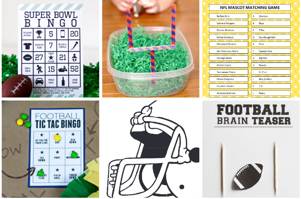 Super Bowl Games and Printables